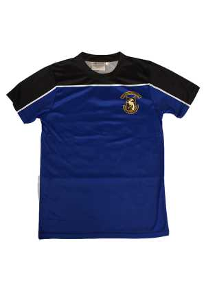 Otahuhu College PE Tee Black - Blue - Gold - White
