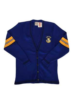 Otahuhu College Senior Girls Cardigan Royal/Gold